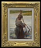 Wyczółkowski Leon - FISHERMAN WITH NET, oil, canvas on cardboard