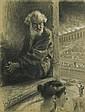 Styka Jan - ST. PETER IN A CIRCUS, 1903, crayon, pastel, paper