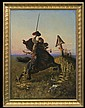 Dunin Borkowski Alfons - COSSACK ON STEPPES, 1881, oil, canvas