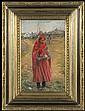 Malczewski Jacek - RED GIRL, 1891, oil, cardboard