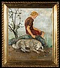 Hofman Vlastimil - GIRL WITH A DOG, AFTER 1930, oil, plywood