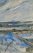 Wyspiański Stanisław - VIEW TO THE KOSCIUSZKO HILL, CRACOW, 1904, pastel, paper