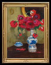 Karpiński Alfons - BOUQUET OF FLOWERS, 1930 - 1940, oil, cardboard