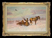 Chełmoński Józef - BRUSHWOOD PICKING, 1902, oil, canvas