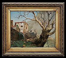 Alchimowicz Hiacynt - PYRENEES LANDSCAPE, oil, canvas