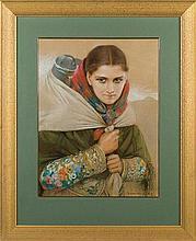 Stachiewicz Piotr - DAIRY-WOMAN, BEAUTIFUL SOPHIA, pastel, paper