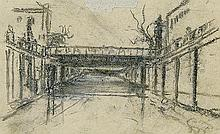 Wyspiański Stanisław - VIEW ON THE RAILWAY VIADUCT, pastel, paper on cardboard