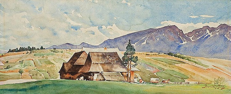 View to Tatras from Poronin village