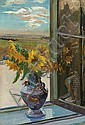 Pinkas Ignacy    SUNFLOWERS, BEFORE SEPTEMBER 1918, oil, cardboard