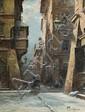 Chmieliński (Stachowicz) Władysław - WINTER ON THE WARSAW OLD TOWN, oil, canvas