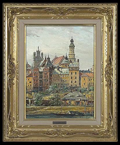 Chmieliński (Stachowicz) Władysław - WARSZAWA. THE OLD TOWN..., oil, canvas
