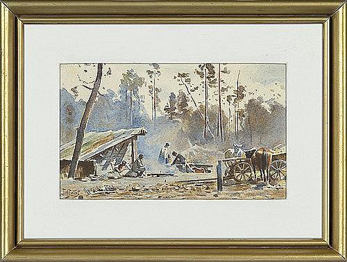 Fałat Julian - HUNTING REST, C. 1889, watercolour, paper
