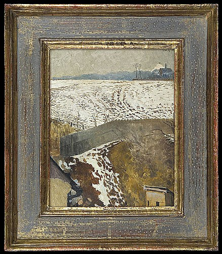 Malczewski Jacek - VIEW FROM THE ARTIST ATELIER IN ZWIERZYNIEC,1901, oil, cardboard