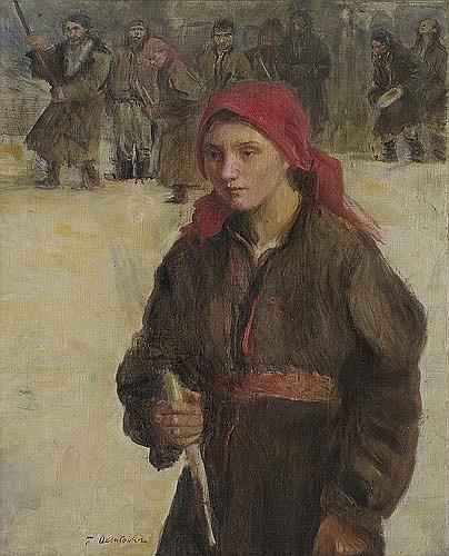 Axentowicz Teodor - CANDLEMAS, 1910, oil, canvas