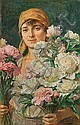 Pochwalski Kazimierz - FLOWERS, 1920, oil, canvas