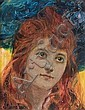 Męcina-Krzesz Józef - THE RED-HAIRED, BEFORE 1908, oil, canvas on cardboard