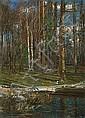 Żukowski Stanisław - EARLY SPRING, 1937, oil, cardboard