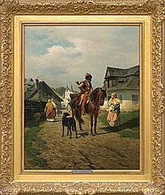 Szerner Władysław - TALK, CA. 1885, oil, canvas