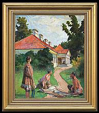 Malczewski Jacek - RETURN, 1920, oil, plywood