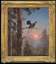 Korecki Wiktor - CAPERCAILLIE, 1933, oil, canvas