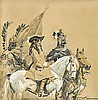 Kossak Wojciech - KING JAN III SOBIESKI AND EMPEROR LEOPOLD I., ink, gouache, paper