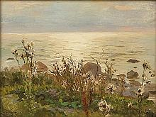 Ruszczyc Ferdynand - TEASELS AT THE SEA, 1896, oil, canvas on cardboard
