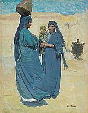 Trusz Iwan - ARABS, 1920'S, oil, cardboard