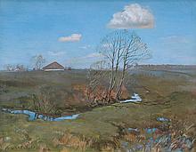 Grabowski Ludwik - LANDSCAPE, BEFORE 1926, oil, canvas