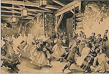Łuskina Włodzimierz - WEDDING, indian ink, brush, paper