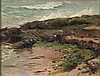Ruszczyc Ferdynand - SEA SHORE AT RUGIA ISLAND, 1896, oil, canvas on cardboard