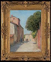 Birnstengel Richard - STREET IN THE CITY, 1916, oil, cardboard