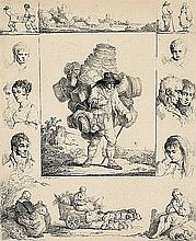 Płoński Michał - BASKET SELLER, 1805, etching, paper