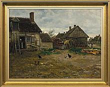 Firmin Girard Marie-François - COURTYARD, oil, canvas