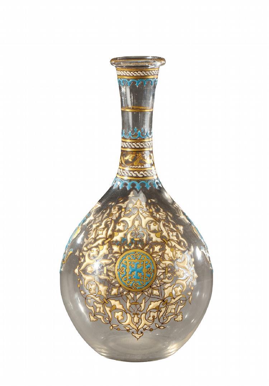 Philippe joseph brocard mort en 1896 vase en verre translu for Decoration vase en verre