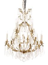 French Louis XVI Style 16 Light Chandelier