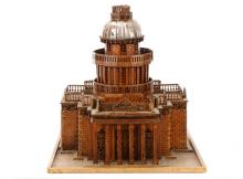 19th C. Wooded Maquette or Model of The Pantheon