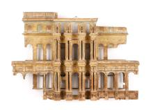 Fine Model of Temple's Front, India, 19th C.