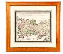 Seutter, Hand Colored Map, Asia Minor, 18th C.