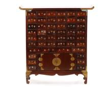 Korean Stained and Lacquered Apothecary Cabinet