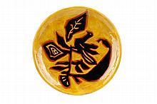 Jean Lurcat Ceramic Plate with Bird Motif, Signed