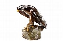 Felix Guis, French Art Deco Ceramic Eagle, Signed