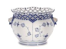 Royal Copenhagen Blue, White Porcelain Jardiniére