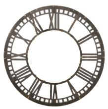 Large Industrial Cast Iron Clock Tower Dial