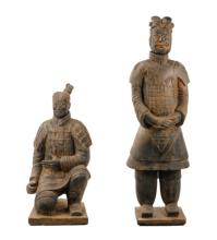Two Life Size Terracotta Army Warrior Replicas