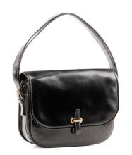 Hermès Black Calf Box Leather Handbag