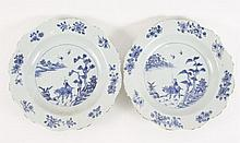 Pair of Chinese Porcelain Dishes, Blue & White
