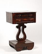 American Empire Style Mahogany Work Table