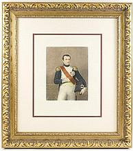 19th C. Engraving, Portrait of Napoleon Bonaparte