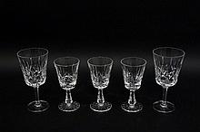 Five Pieces of Crystal Stemware--Waterford & Gorha