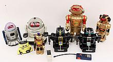 Group of Eight Robots, Circa 1980s